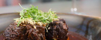 Cider Braised Short Ribs with Sweet Potato